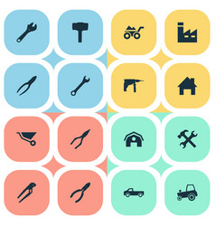 set of simple wrench icons vector image