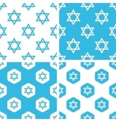 Star of david patterns set vector