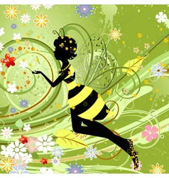 summer girl fantasy fairy vector image vector image