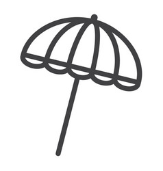sun umbrella line icon travel tourism parasol vector image vector image