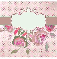 Vintage Floral Rose Card vector image vector image