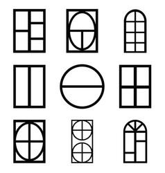 window icon set vector image vector image