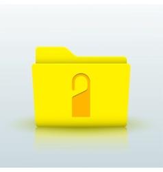 Yellow folder on blue background eps10 vector
