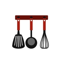 Kitchen utensil icon flat style vector