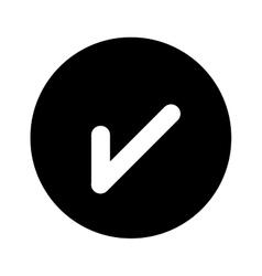 Tick or check mark icon vector
