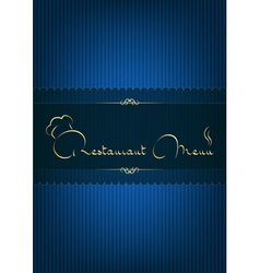 Retaurant menu blue vector