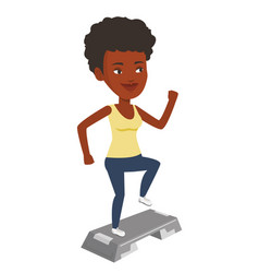 woman exercising on steeper vector image
