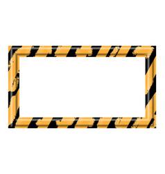 Construction warning border vector