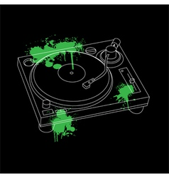 Turntable Outline Design vector image