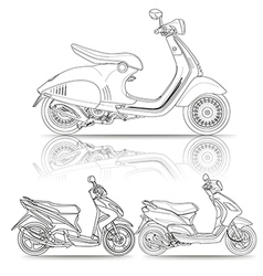 Outline scooter vector