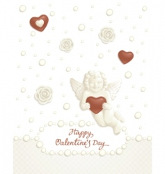 valentine candy background vector image