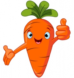 Carrot character giving thumbs up vector