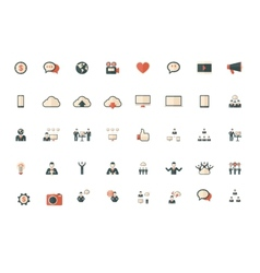 Technology set of flat icons vector
