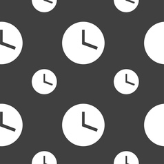 Mechanical clock icon sign seamless pattern on a vector