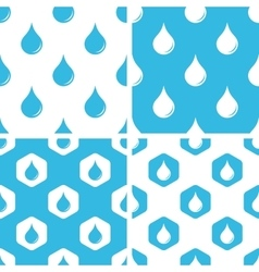 Water drop patterns set vector