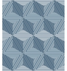 Abstract geometric pattern with striped triangles vector