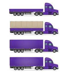 Semi truck trailer 06 vector