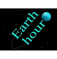 Earth hour vector