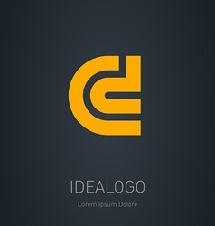 C and d initial logo c and d initial monogram vector