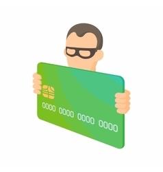 Credit card thief icon cartoon style vector image