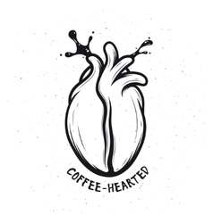 Coffee bean made of human heart creative vector