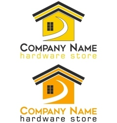 Logo hardware store house vector