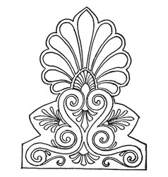 Antefix is a especially in the roman period vector