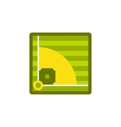 Baseball field icon flat style vector image