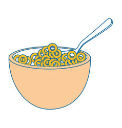 Breakfast cereal food vector