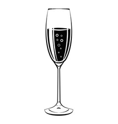 champagne glass icon vintage vector image vector image