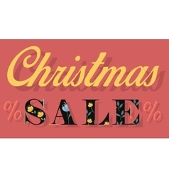 Christmas sale card for retail vector