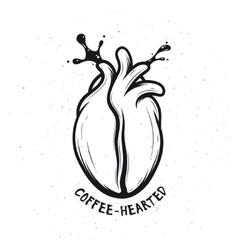 Coffee bean made of human heart Creative vector image