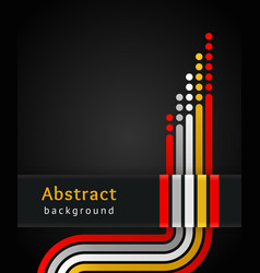 Colored stripes on black background vector image