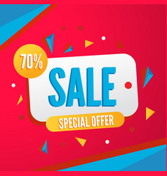 colorful banner for sale season with vector image