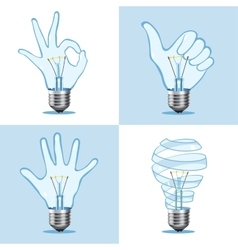 Crative light bulb collection vector