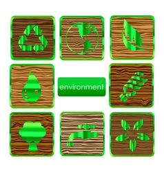 environmental nature and eco sign set vector image vector image