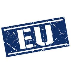 eu blue square stamp vector image