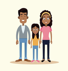 Family african american together vector