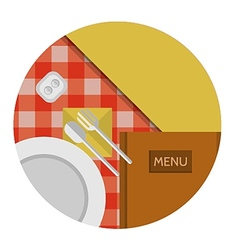 Flat icon for cafe or restaurant vector image