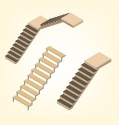 flight of stairs isometric vector image