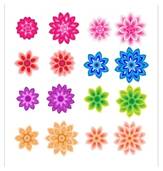 Flower petals overlapping colorful vector image vector image