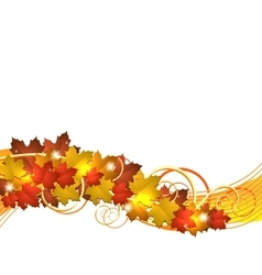 Flying autumn leaves background vector image vector image