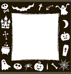 Frame with halloween elements vector