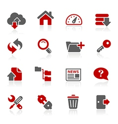 FTP Hosting Icons vector image vector image