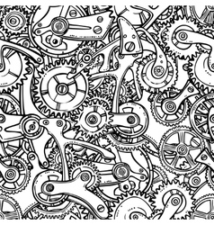 Gears lightbulb sketch vector image vector image