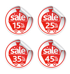 holiday new year stickers sale set vector image vector image