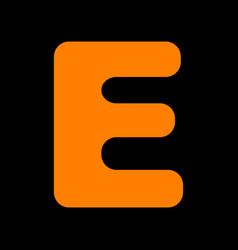 letter e sign design template element orange icon vector image vector image