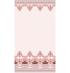 light pink vintage card with a wide border vector image vector image