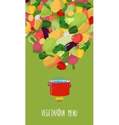 Menu of vegetables Vegetarian food Concept vector image vector image