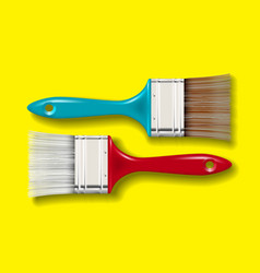 Paint bristle brush set vector